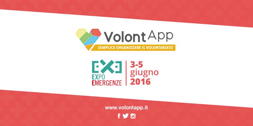 Dal 3 al 5 Giugno saremo a ExpoEmergenze  Buone notizie in arrivo!  Noi diVolontApp saremo presenti con uno stand espositivo all'interno della fiera ExpoEmergenze,  la rassegna nazionale biennale di nuove tecnologie e…
