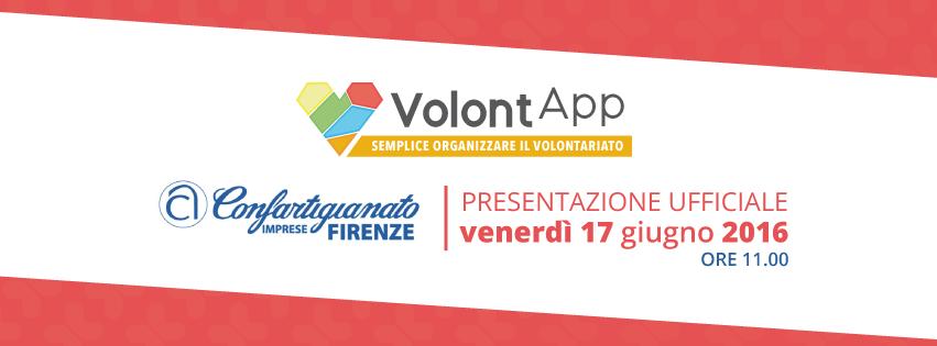 Presentazione Ufficiale VolontApp Ci siamo! Siamo emozionati nel dirvi che l'attesa è finita e possiamo svelarvi cosa stavamo organizzando per voi: venerdì 17 Giugno alle ore 11:00 presso Confartigianato Firenze, si…